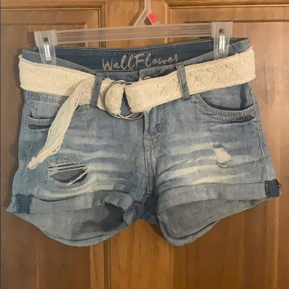 Wallflower Pants - Medium Wash Denim Shorts
